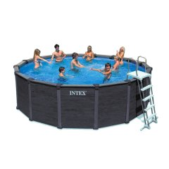 Каркасный бассейн Intex 28384. Graphite Panel Pool - 478 х 124 см