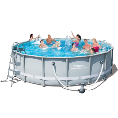 Каркасный бассейн Bestway 56266. Power Steel Frame Pools - 488 x 122 cм