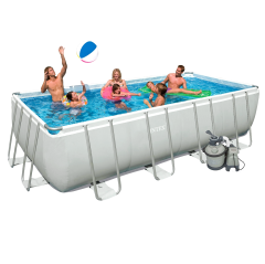 Каркасный бассейн Intex 28352 (26352). Ultra Frame Rectangular Pool 549 х 274 х 132 см