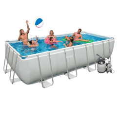 Каркасный бассейн Intex 28356. Ultra Frame Rectangular Pool 549 х 274 х 132 см