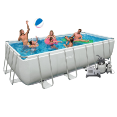 Каркасный бассейн Intex 28352-11. Ultra Frame Rectangular Pool 549 х 274 х 132 см