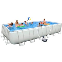 Каркасный бассейн Intex 28362 (26362). Ultra Frame Rectangular Pool 732 х 366 х 132 см