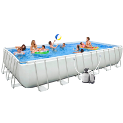 Каркасный бассейн Intex 28364 / 28366. Ultra Frame Rectangular Pool 732 х 366 х 132 см
