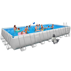 Каркасный бассейн Intex 28372 / 54990. Ultra Frame Rectangular Pool 975 х 488 х 132 см