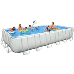 Каркасный бассейн Intex 28366-1. Ultra Frame Rectangular Pool 732 х 366 х 132 см