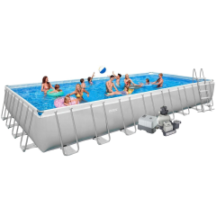 Каркасный бассейн Intex 28372-17. Ultra Frame Rectangular Pool 975 х 488 х 132 см