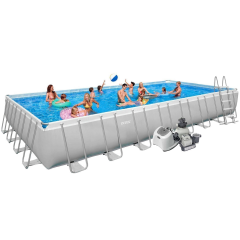 Каркасный бассейн Intex 28376-13. Ultra Frame Rectangular Pool 975 х 488 х 132 см