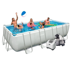 Каркасный бассейн Intex 28352-15. Ultra Frame Rectangular Pool 549 х 274 х 132 см