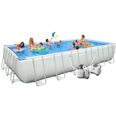 Каркасный бассейн Intex 28366-16. Ultra Frame Rectangular Pool 732 х 366 х 132 см
