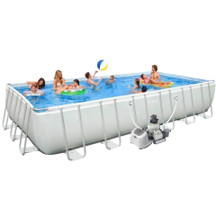 Каркасный бассейн Intex 28366-13. Ultra Frame Rectangular Pool 732 х 366 х 132 см