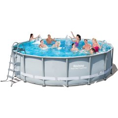 Каркасный бассейн Bestway 56266-1 (56451). Power Steel Frame Pools - 488 x 122 cм