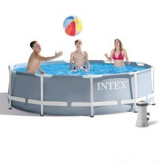 Каркасный бассейн Intex 26700-4 New, 305 x 76 см (2 006 л/ч, тент, подстилка)