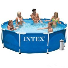 Каркасный бассейн Intex 28200 - 4 New, 305 х 76 см (2 006 л/ч, тент, подстилка)