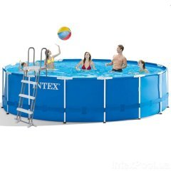 Каркасный бассейн Intex 28242 - 1 New, 457 x 122 см (тент, подстилка, лестница)