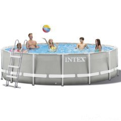 Каркасный бассейн Intex 26720 - 1 New, 427 х 107 см (лестница, тент, подстилка)