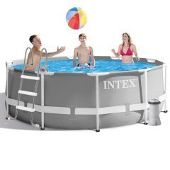 Каркасный бассейн Intex 26706 - 5 New, 305 x 99 см (3 785 л/ч, тент, подстилка, лестница)