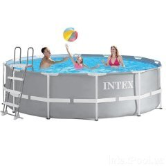 Каркасный бассейн Intex 26718 - 1 New, 366 х 122 см (лестница)