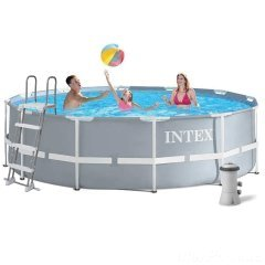 Каркасный бассейн Intex 26718 - 5 New, 366 х 122 см (3 785 л/ч, лестница, тент, подстилка)