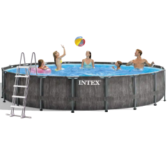 Каркасный бассейн Intex 26744 - 1 New, 549 x 122 см (лестница, подстилка,тент)